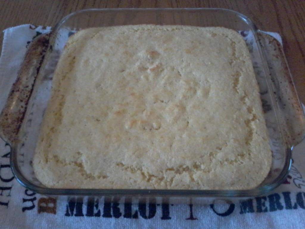 Rich corn cake made from vintage recipe