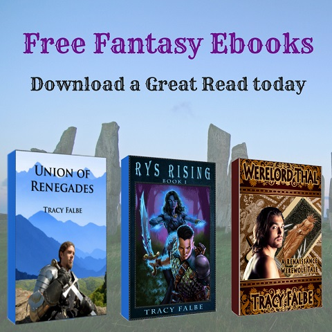 Free downloads - Get access to all 3 free fantasy ebooks by Tracy Falbe.
